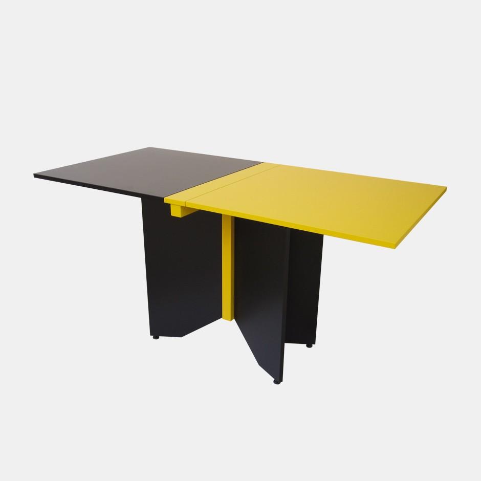 Tavolo coccinella giallo e nero